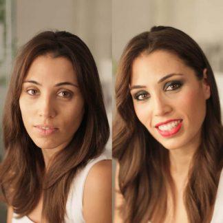 maquillaje antes y despues